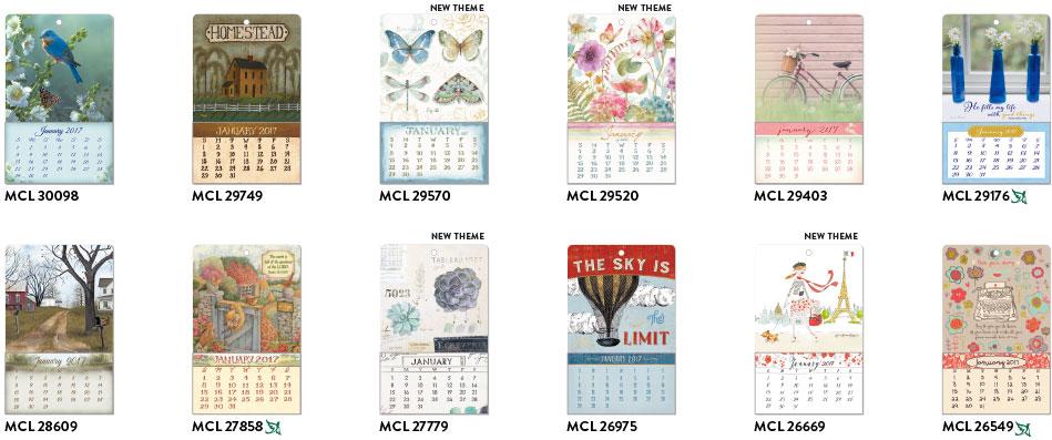 2017 mini calendar