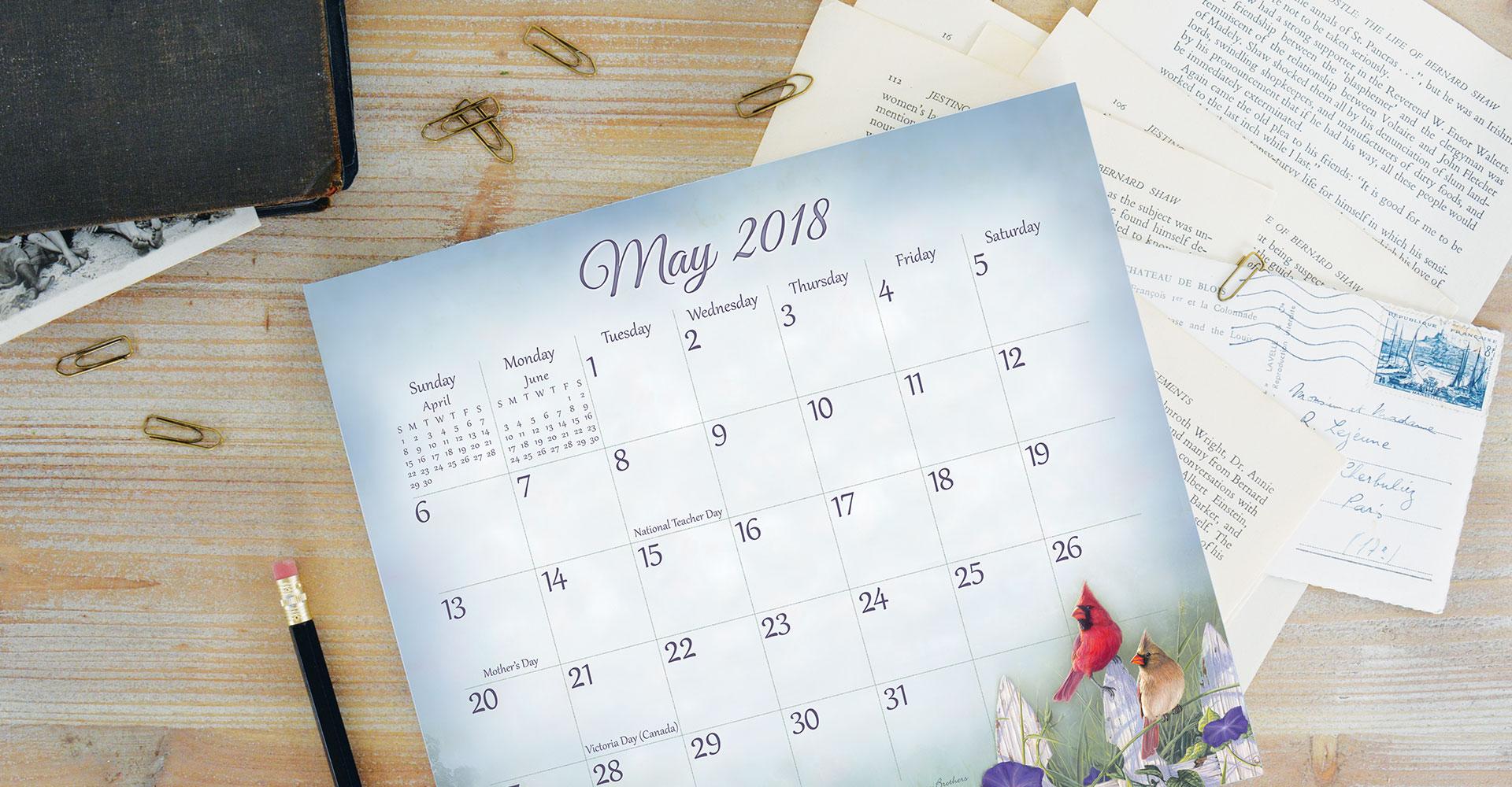 magnetic calendar pads 2018