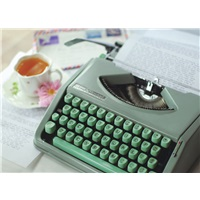 Green Vintage Typewriter