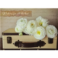 Flowers on Suitcase