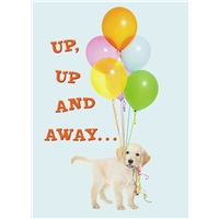 Puppy with Balloons