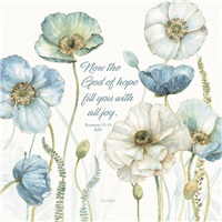 Blue and White Poppies