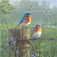 Bluebirds in a Field