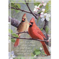 Cardinals in Apple Blossoms