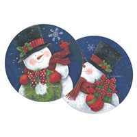 Snowman and Wreath