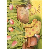Boots with Tulips