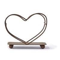 Heart Shaped Wire Coaster Holder