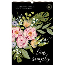 Live Simply 2019 Large Wall Calendar LWC45740