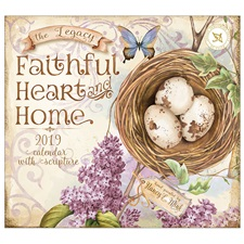 Faithful Heart and Home 2019 Mini Wall Calendar MCA44059