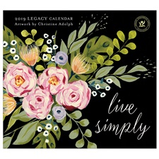 Live Simply 2019 Mini Wall Calendar MCA45740