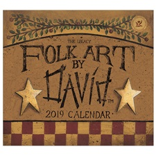 Folk Art by David 2019 Mini Wall Calendar MCA46404