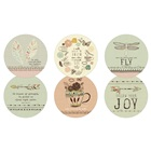 Heavenly Direction Rerversible Assorted Coaster Set RCS37190