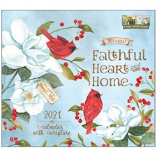 Faithful Heart and Home 2021 Wall Calendar WCA57657